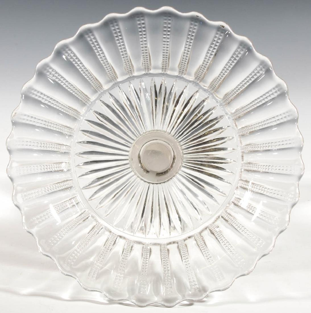 A 19TH CENTURY FROSTED JENNY LIND COMPOTE - 8