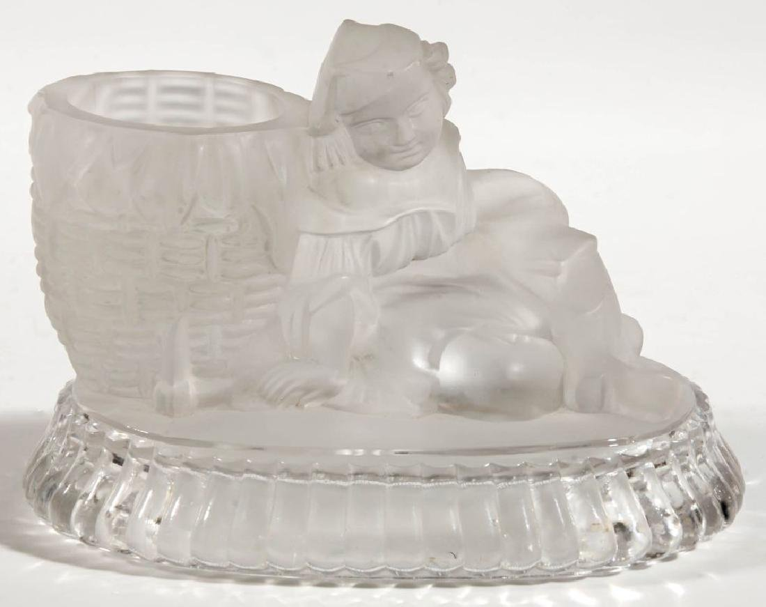 A 19TH C. CONTINENTAL FROSTED GLASS STATUETTE