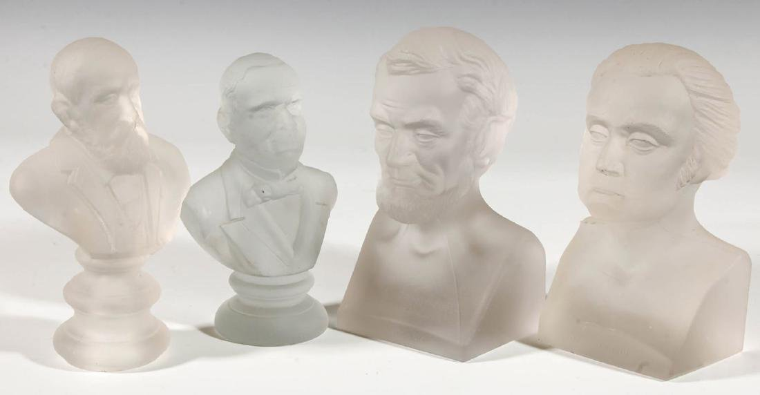 A COLLECTION OF 19TH C. GILLINDER PRESIDENTIAL BUSTS