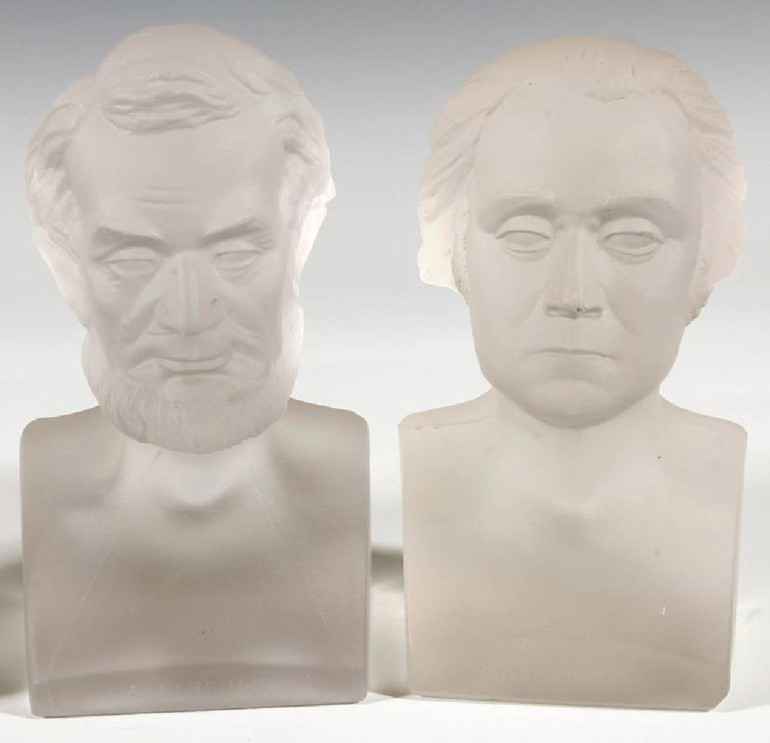 A COLLECTION OF 19TH C. GILLINDER PRESIDENTIAL BUSTS - 2