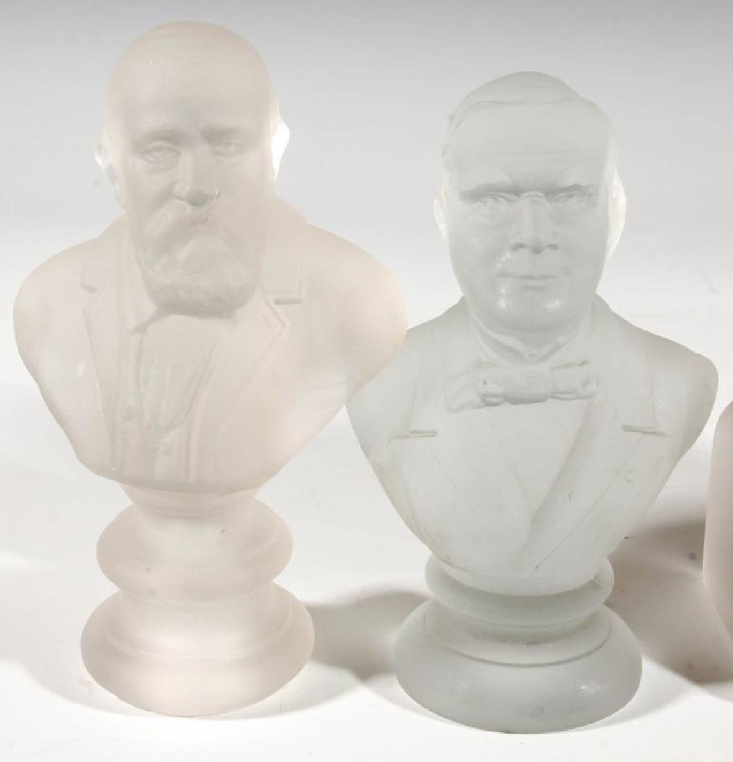 A COLLECTION OF 19TH C. GILLINDER PRESIDENTIAL BUSTS - 3
