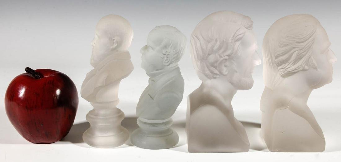 A COLLECTION OF 19TH C. GILLINDER PRESIDENTIAL BUSTS - 4