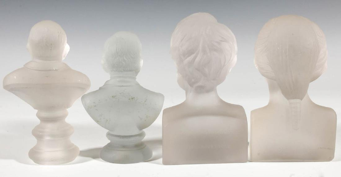 A COLLECTION OF 19TH C. GILLINDER PRESIDENTIAL BUSTS - 5