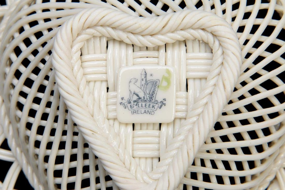 TWO IRISH BELLEEK PORCELAIN STRAND BASKETS - 4