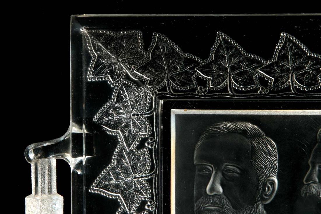BLAINE / LOGAN 1884 CAMPAIGN HISTORICAL GLASS TRAY - 3