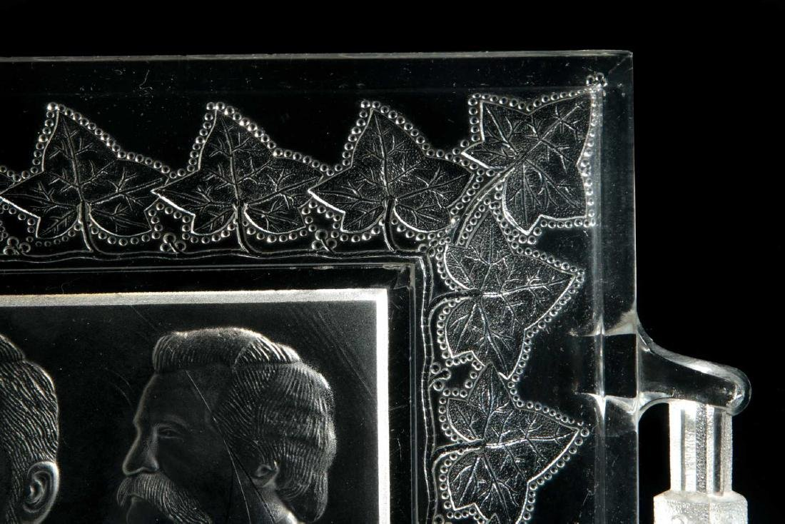BLAINE / LOGAN 1884 CAMPAIGN HISTORICAL GLASS TRAY - 4