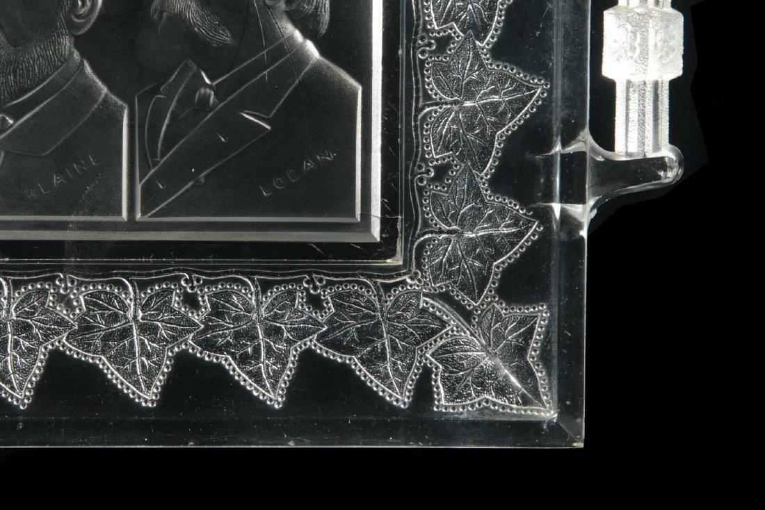 BLAINE / LOGAN 1884 CAMPAIGN HISTORICAL GLASS TRAY - 5