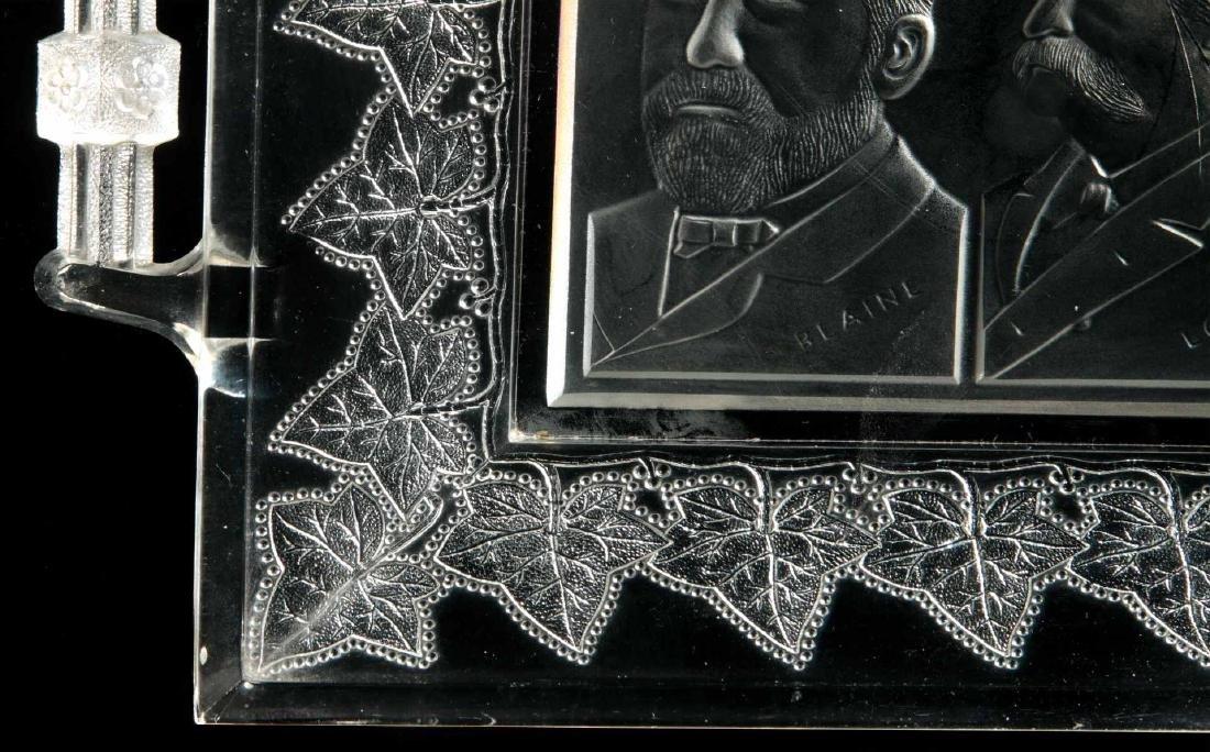 BLAINE / LOGAN 1884 CAMPAIGN HISTORICAL GLASS TRAY - 6