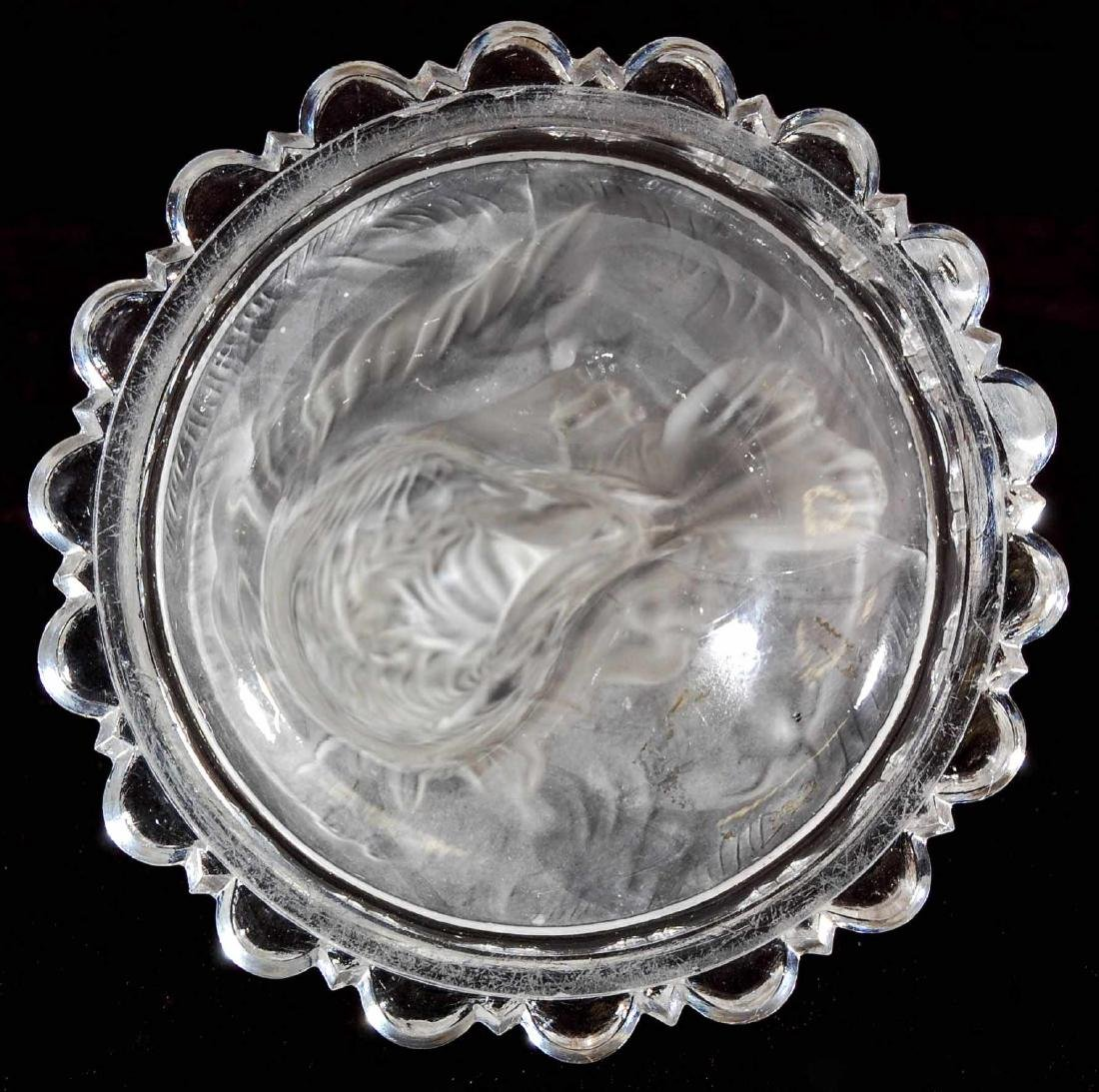 A 19TH C. FROSTED GLASS DOG PAPERWEIGHT - 7