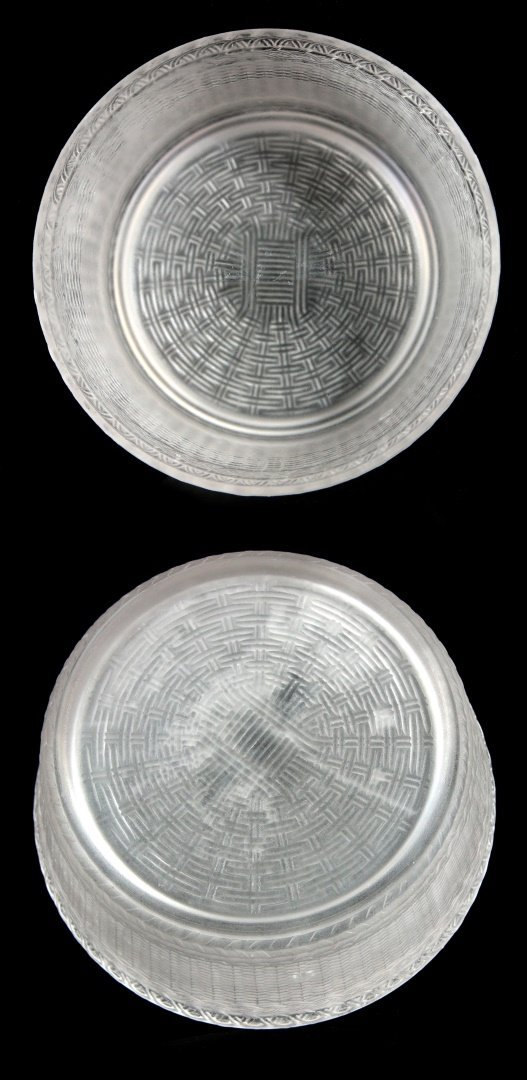 TWO 19TH C. FROSTED GLASS COVERED ANIMAL DISHES - 4
