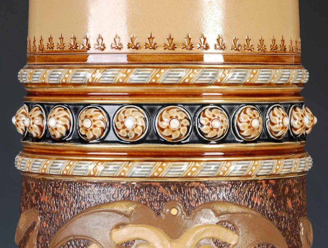 AN IMPRESSIVE 21-INCH METTLACH ETCHED STEIN #1498 - 5