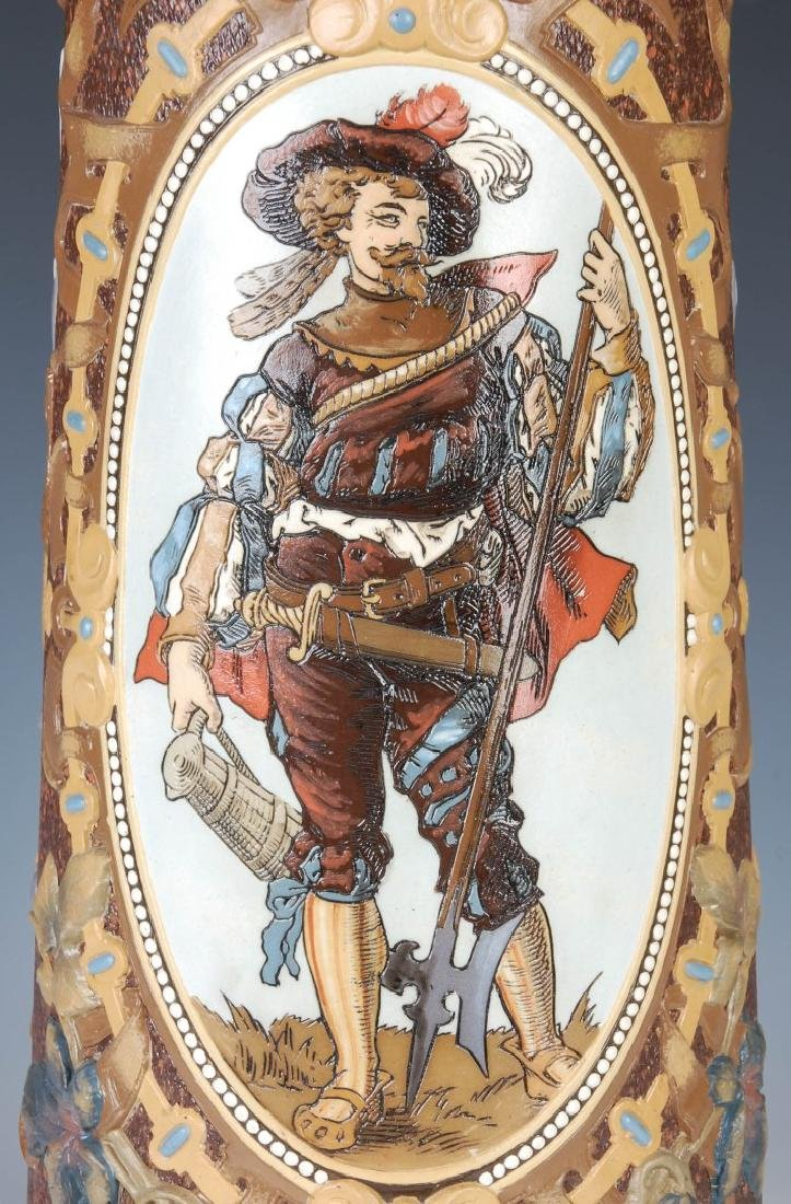 AN IMPRESSIVE 21-INCH METTLACH ETCHED STEIN #1498 - 6