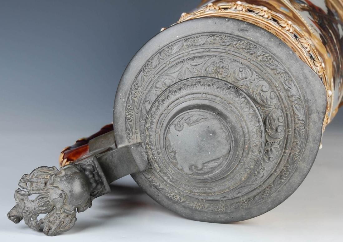 AN IMPRESSIVE 21-INCH METTLACH ETCHED STEIN #1498 - 8