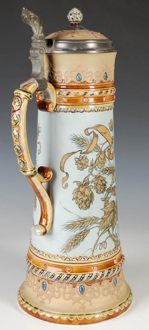 A 17-INCH METTLACH ETCHED AND JEWELED STEIN #1940 - 3
