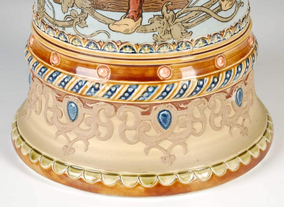 A 17-INCH METTLACH ETCHED AND JEWELED STEIN #1940 - 7