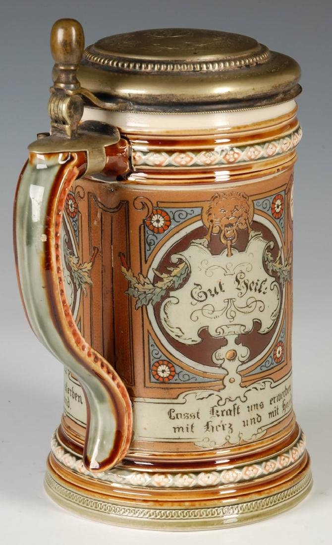 A METTLACH 4F MOVEMENT ETCHED STEIN CIRCA 1899 - 3