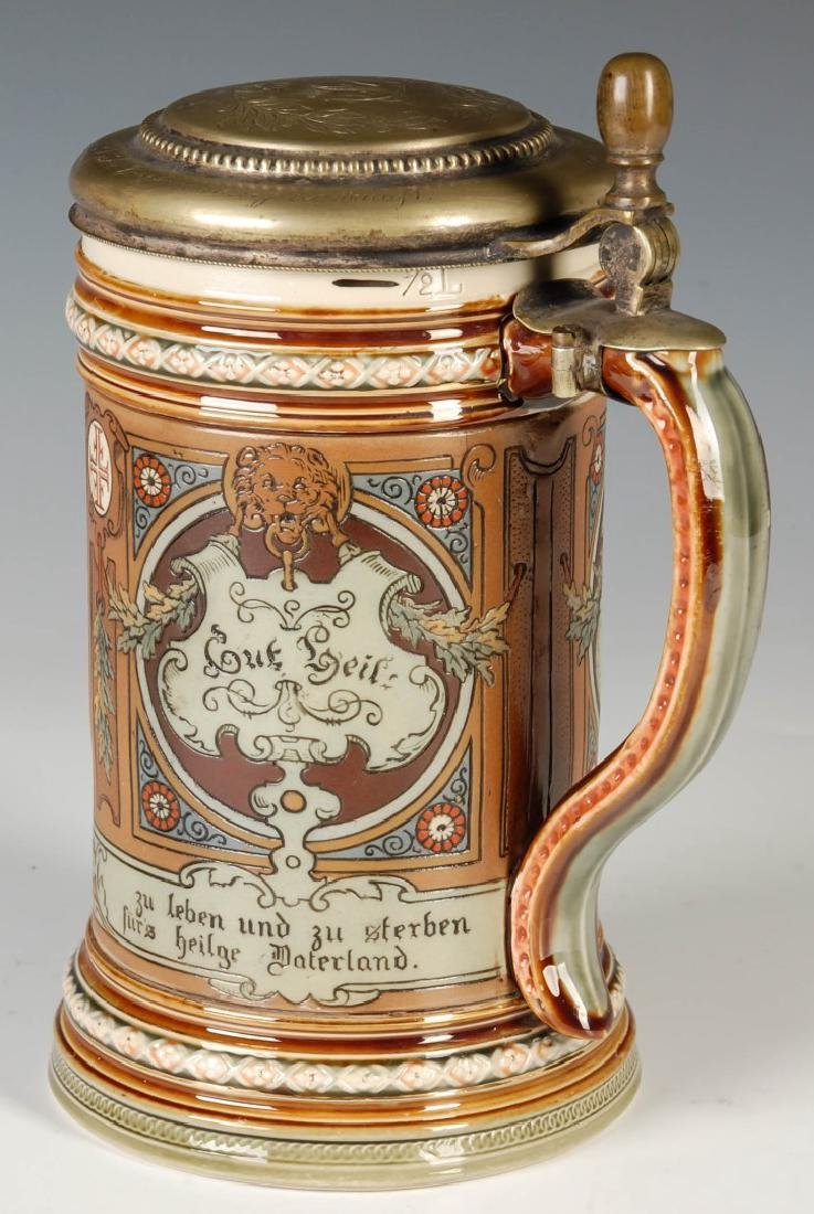 A METTLACH 4F MOVEMENT ETCHED STEIN CIRCA 1899 - 4