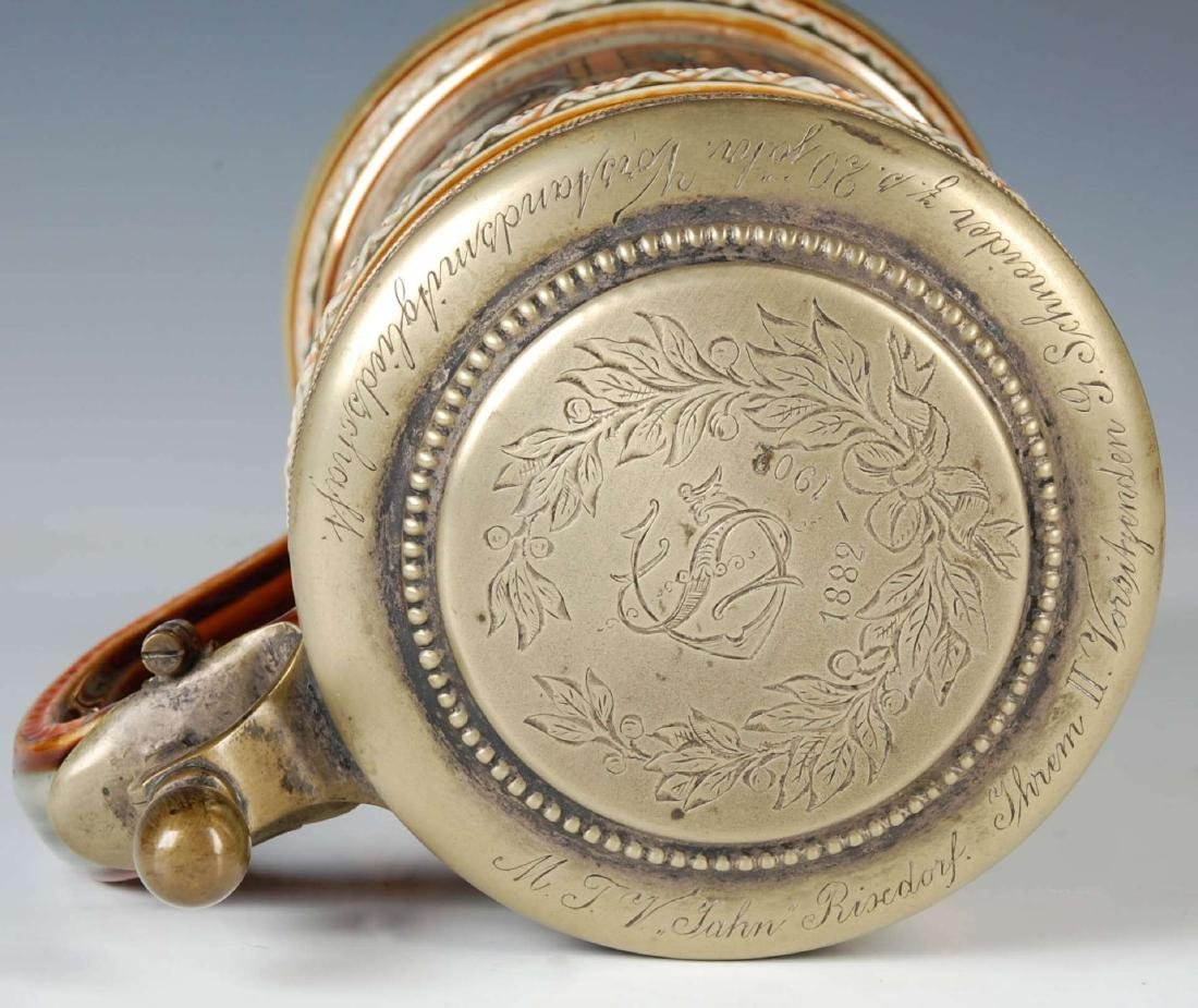 A METTLACH 4F MOVEMENT ETCHED STEIN CIRCA 1899 - 6