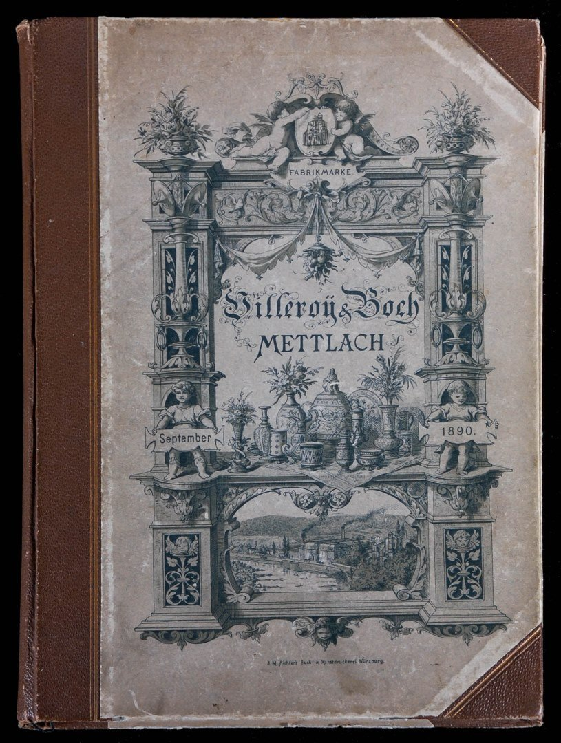 AN ORIGINAL 1891 VILLEROY & BOCH METTLACH TRADE CATALOG