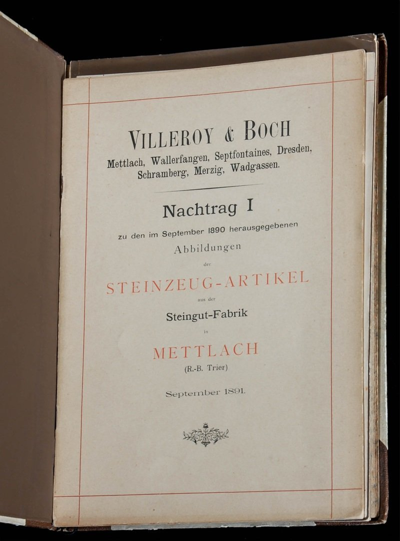 AN ORIGINAL 1891 VILLEROY & BOCH METTLACH TRADE CATALOG - 2