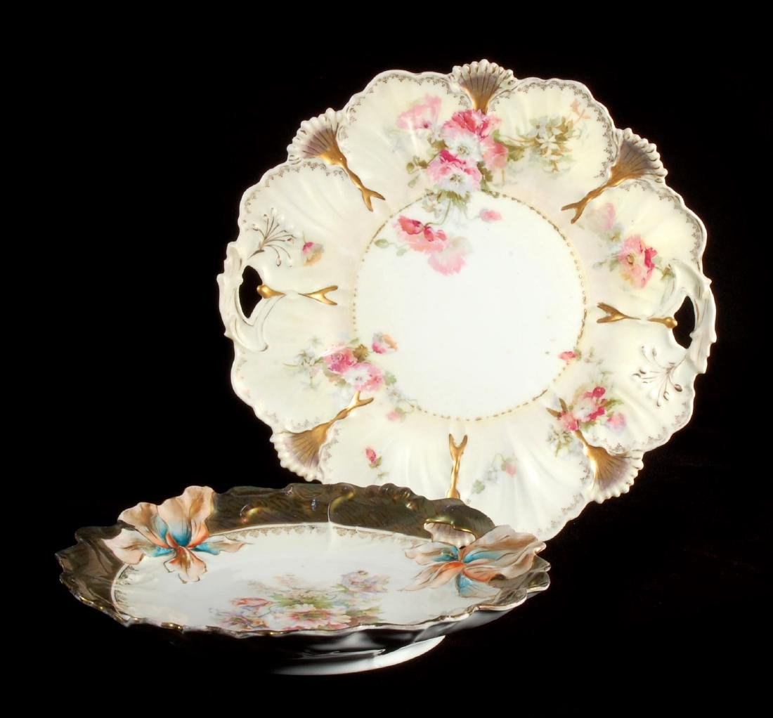 TWO PIECES OF C. 1900 GERMAN PORCELAIN ATTR RS PRUSSIA