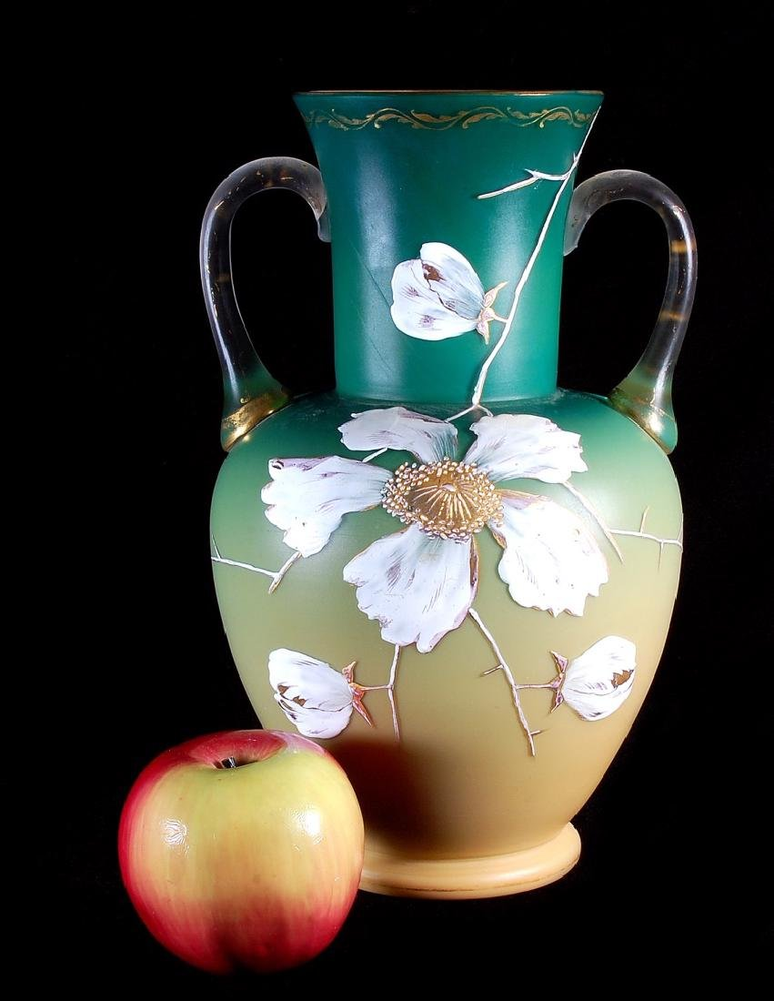A CIRCA 1887 ART GLASS VASE ATTRIBUTED EARLY LOETZ - 2