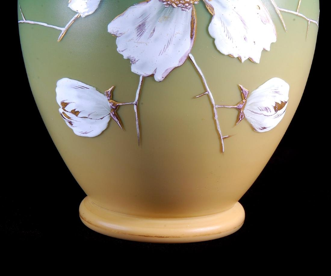 A CIRCA 1887 ART GLASS VASE ATTRIBUTED EARLY LOETZ - 5