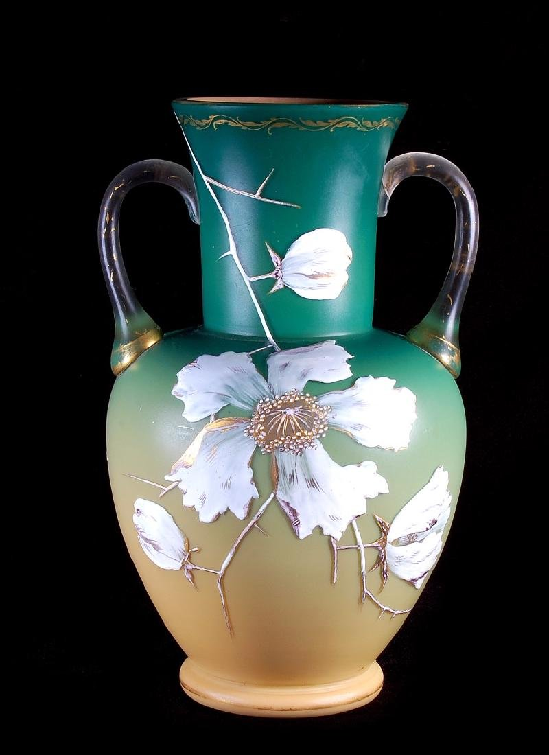 A CIRCA 1887 ART GLASS VASE ATTRIBUTED EARLY LOETZ - 7