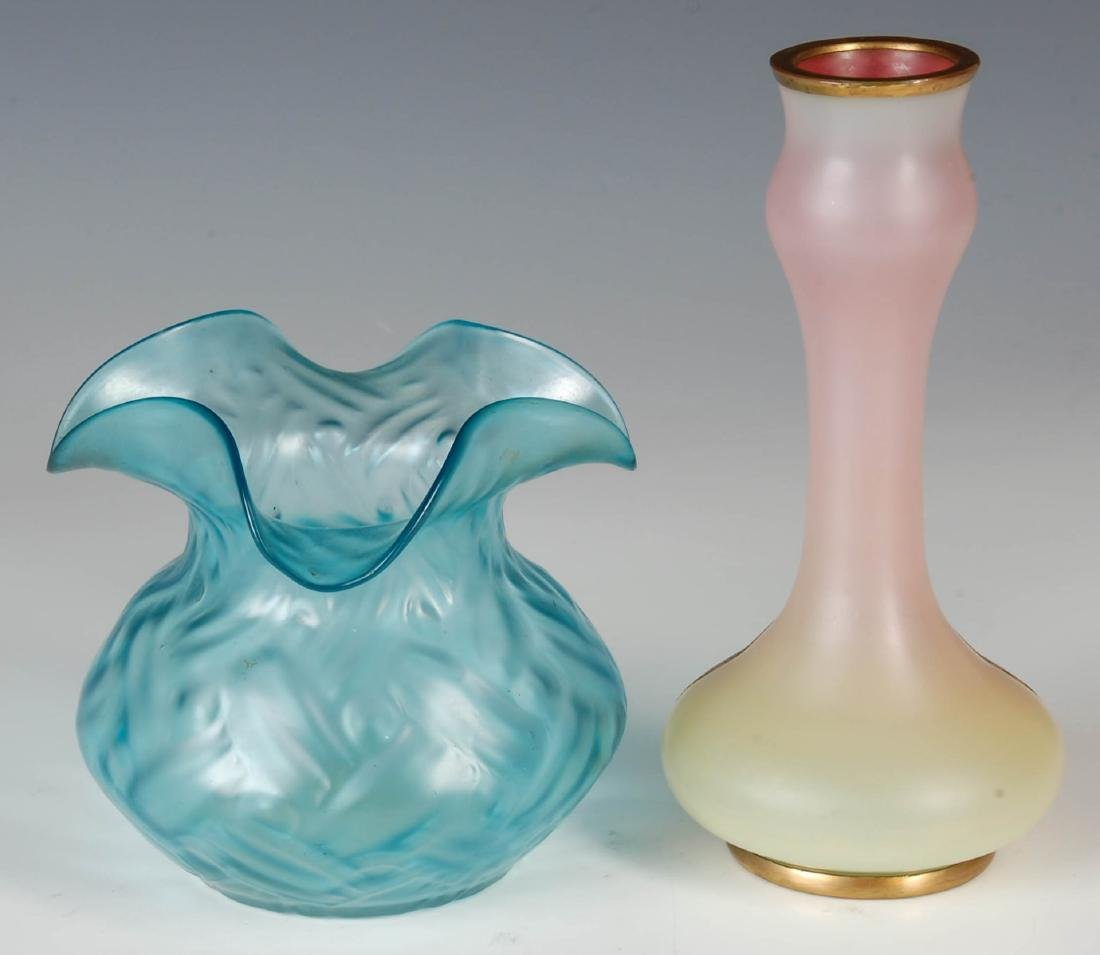 AN AUSTRIAN SECESSIONIST VASE WITH COPPER OVERLAY - 3