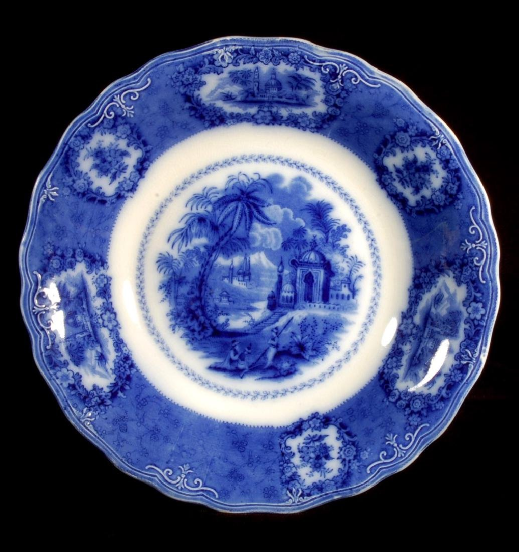 FOUR PIECES OF FLOW BLUE CHINA CIRCA 1900 - 10