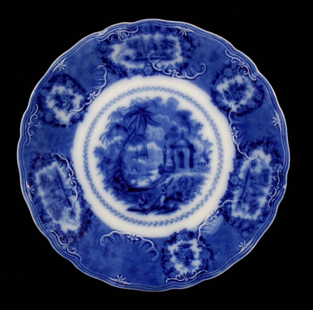 FOUR PIECES OF FLOW BLUE CHINA CIRCA 1900 - 3