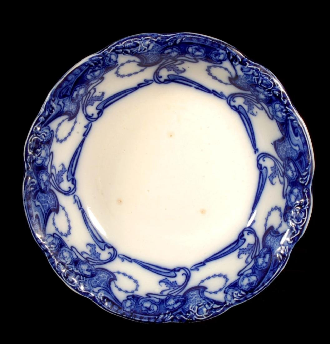 FOUR PIECES OF FLOW BLUE CHINA CIRCA 1900 - 6