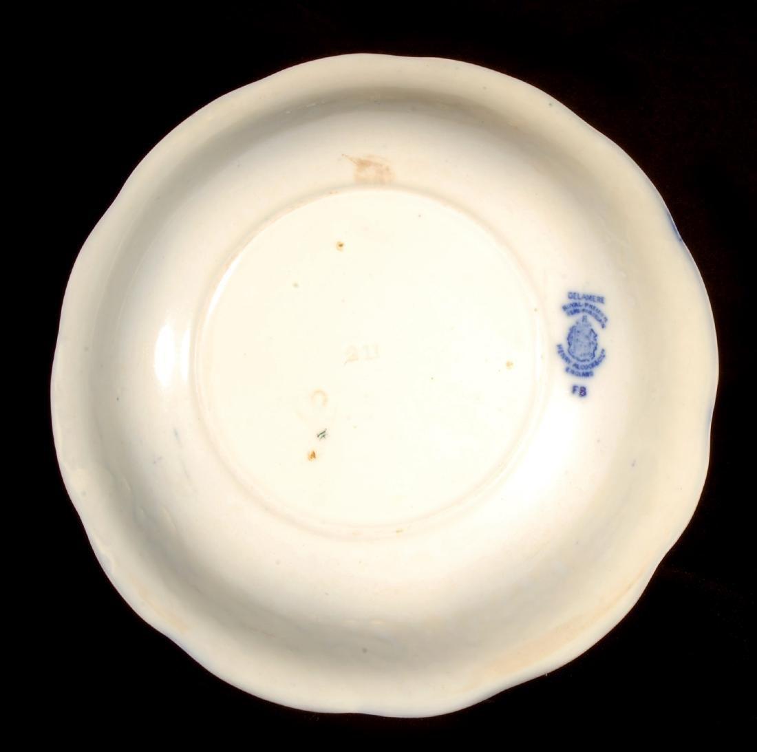 FOUR PIECES OF FLOW BLUE CHINA CIRCA 1900 - 7