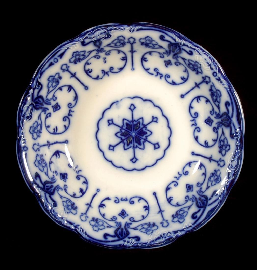 FOUR PIECES OF FLOW BLUE CHINA CIRCA 1900 - 8