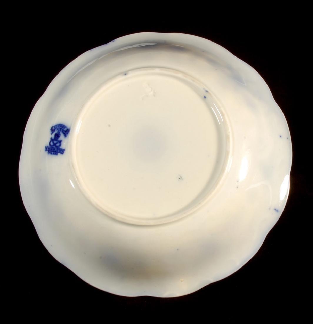FOUR PIECES OF FLOW BLUE CHINA CIRCA 1900 - 9