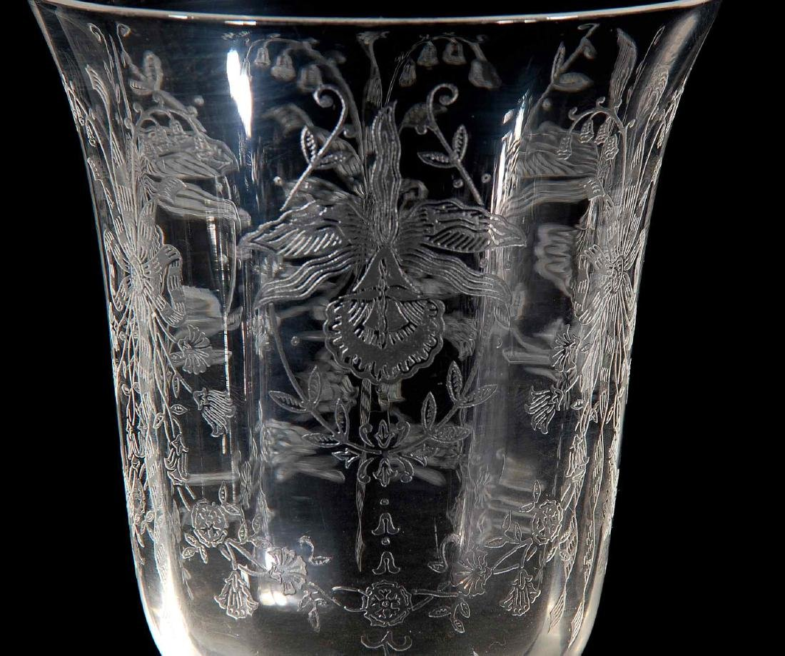 EIGHT HEISEY ORCHID PATTERN LOW WATER GOBLETS - 4