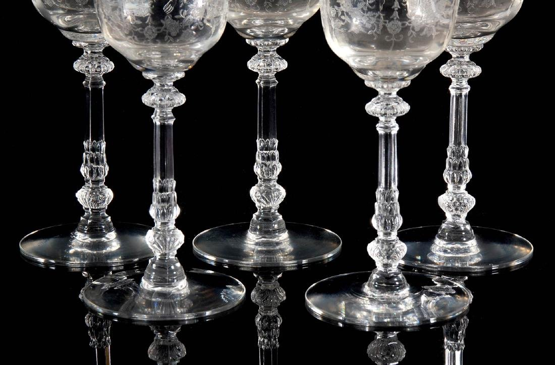 EIGHT HEISEY ORCHID PATTERN WATER GOBLETS - 5