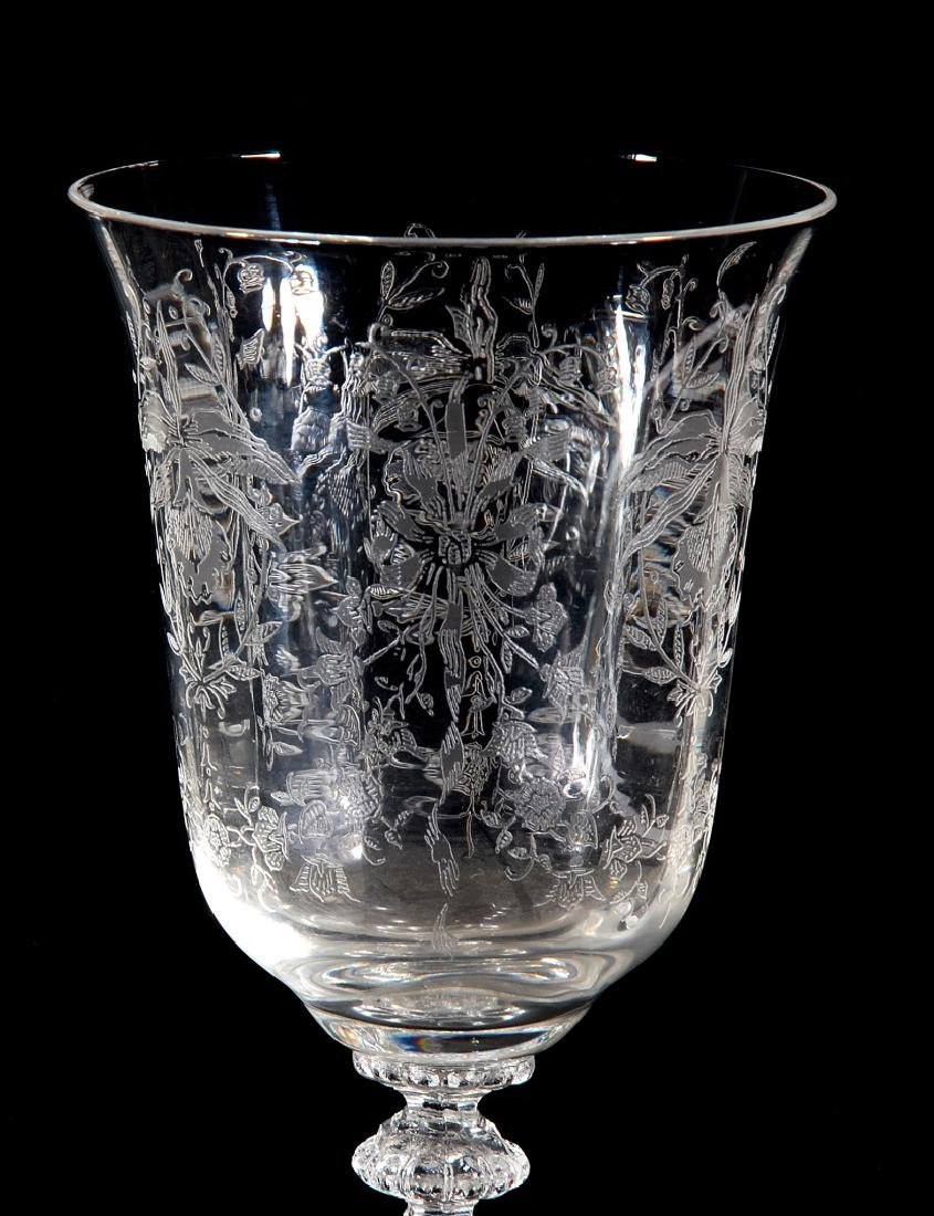 EIGHT HEISEY ORCHID PATTERN WATER GOBLETS - 9