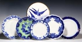 A COLLECTION OF ANTIQUE FLOW BLUE CHINA