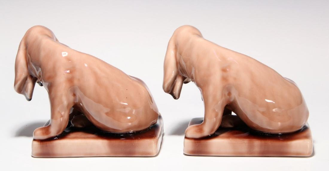 A PAIR OF ROOKWOOD ART POTTERY DOG BOOKENDS - 6