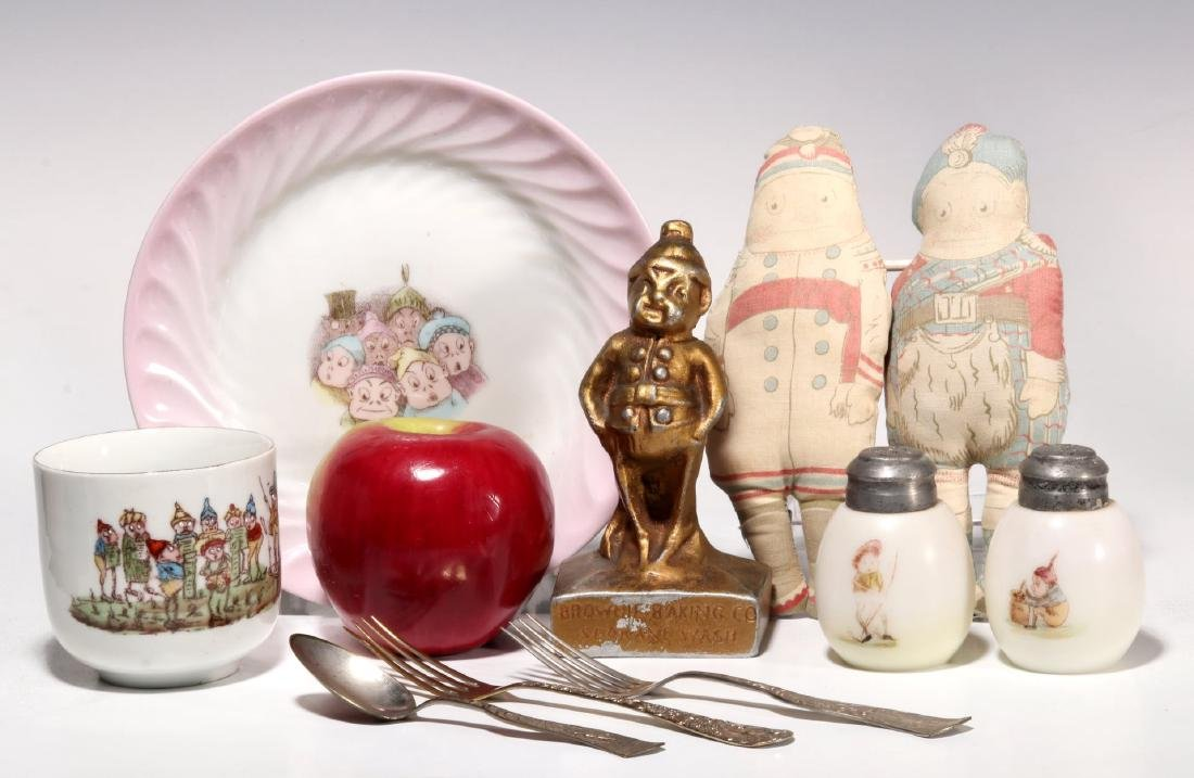 A COLLECTION OF ANTIQUE BROWNIE CHARACTER ITEMS - 2
