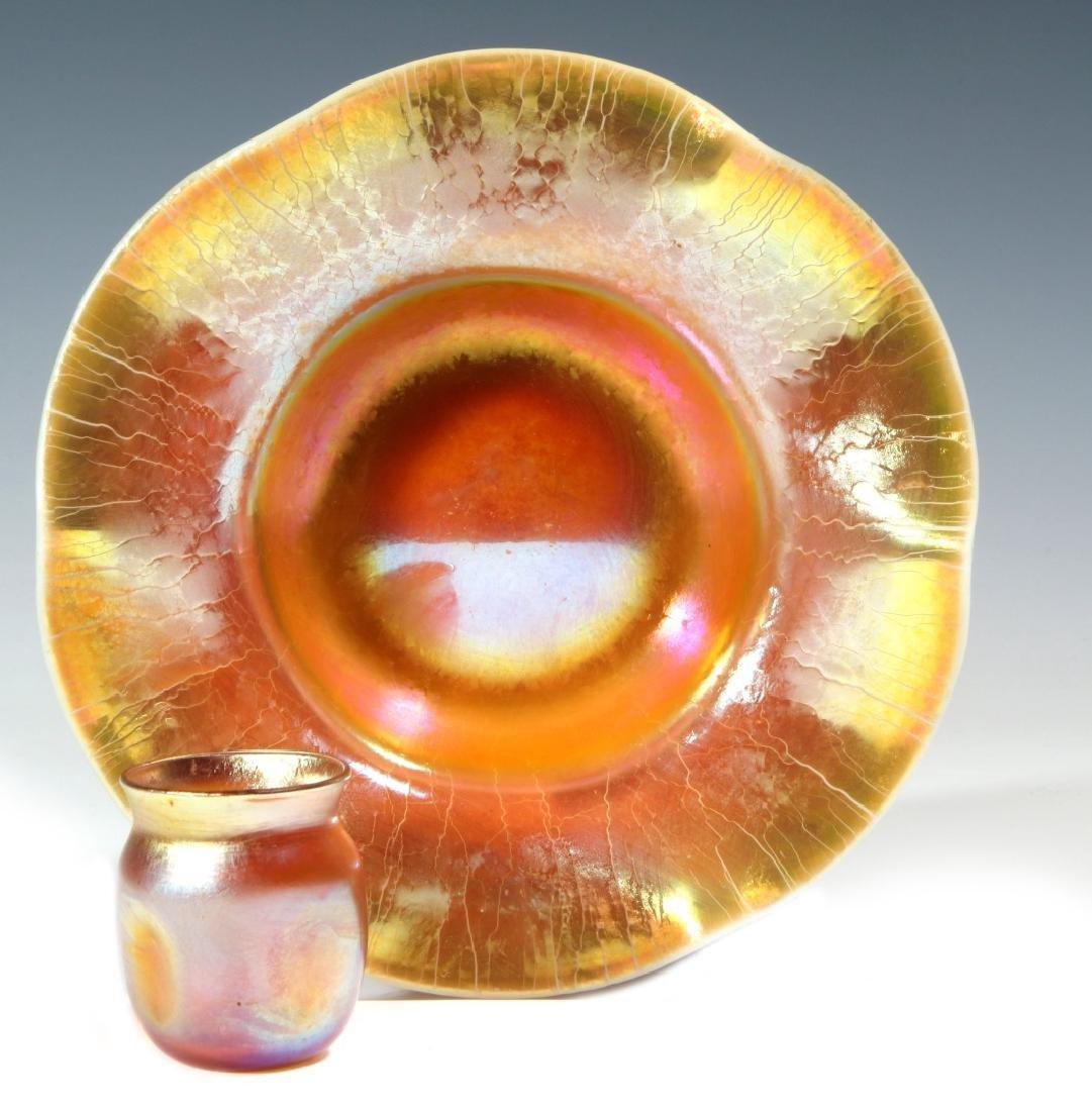 TIFFANY AURENE AND STEUBEN AURENE ART GLASS