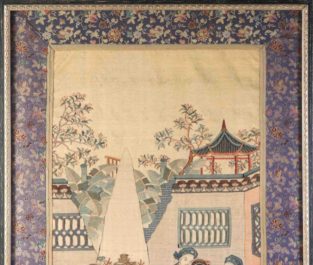 A GOOD EARLY 20TH C. FRAMED CHINESE KESI TAPESTRY - 2