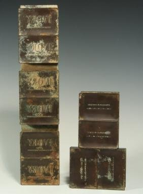 EARLY 20TH CENTURY BRONZE IVORY SOAP MOLDS