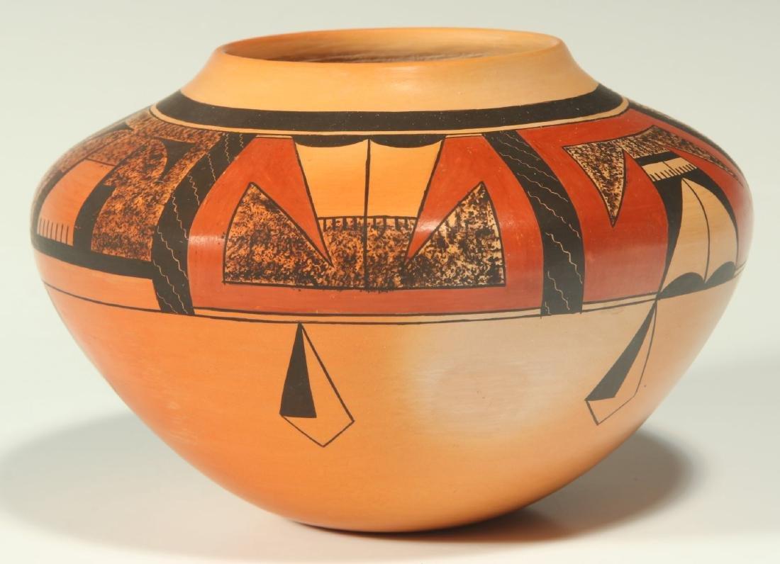 A 20TH C. HOPI POTTERY JAR SIGNED KAREN ABEITA - 4