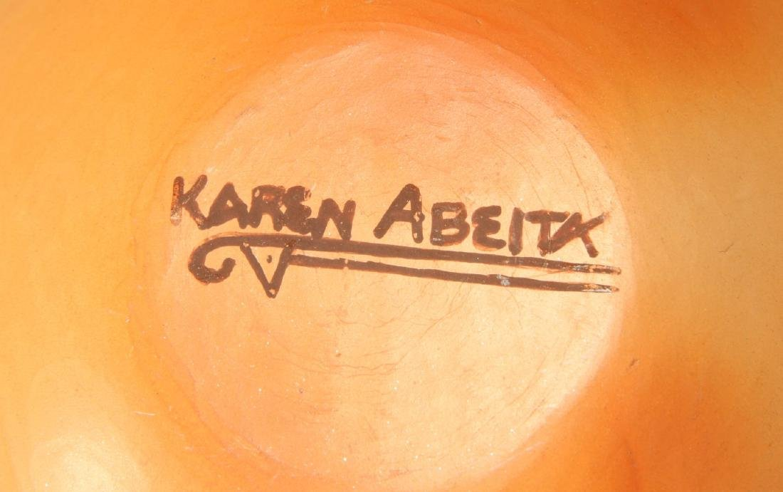 A 20TH C. HOPI POTTERY JAR SIGNED KAREN ABEITA - 8