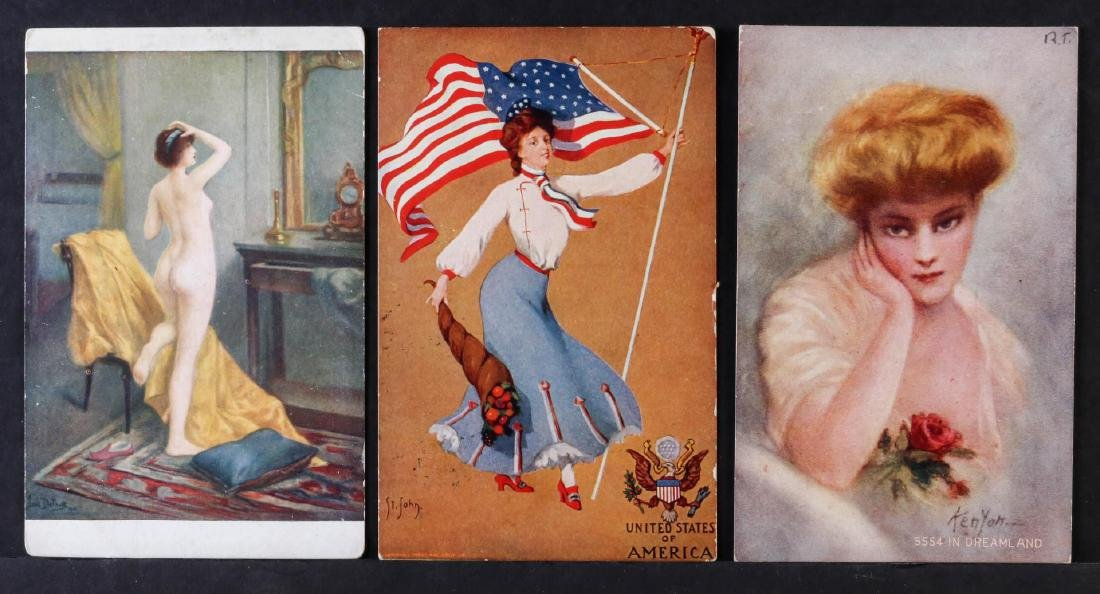 TWENTY-FIVE ARTIST SIGNED IN PLATE GLAMOUR POSTCARDS - 3