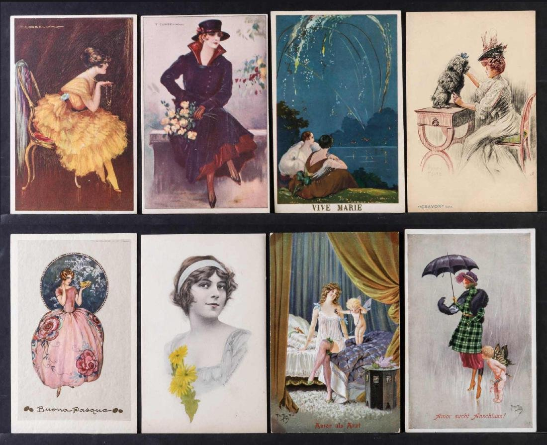 TWENTY-FIVE ARTIST SIGNED IN PLATE GLAMOUR POSTCARDS - 5