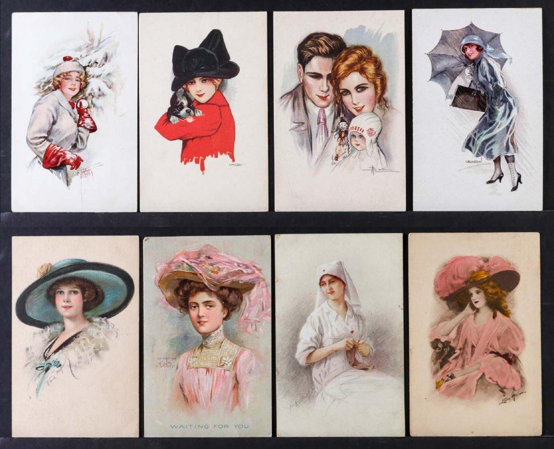 TWENTY-FIVE ARTIST SIGNED IN PLATE GLAMOUR POSTCARDS - 7