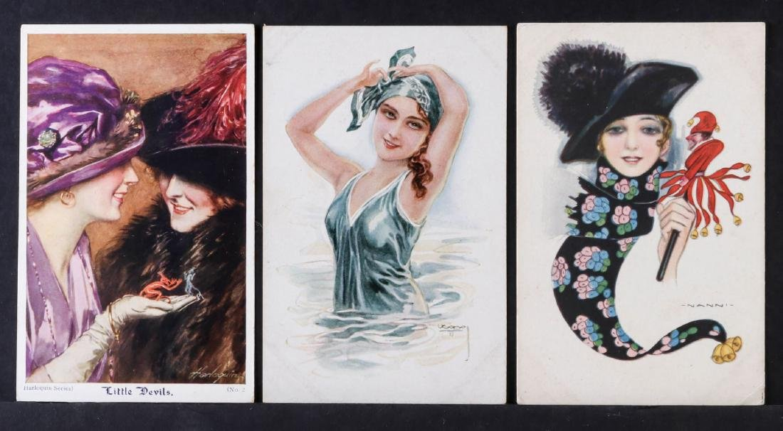 TWENTY-FIVE ARTIST SIGNED IN PLATE GLAMOUR POSTCARDS - 9